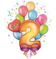 Happy birthday two vector image vector image