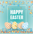 happy easter 3d design vector image