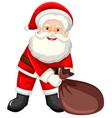 happy santa with sack vector image