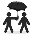 Helping umbrella vector image