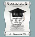 High school academic concept with graduation cap