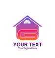 initial letter g logo template colorful home vector image vector image