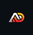 initial logo ad geometric modern vector image vector image