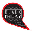 isolatted black friday label vector image