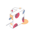 isometric number one decorated with graphic vector image vector image