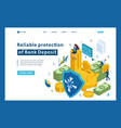 isometric reliable protection your money vector image