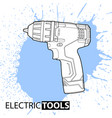 jointer on a bright background vector image vector image