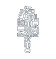 journalistic lined icons set vector image