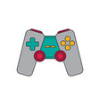 joystick flat icon vector image vector image