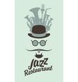 man face in jazz restaurant vector image vector image