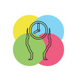 managing time icon time management vector image vector image