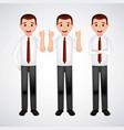 mens with tie hands gesture vector image