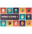 mind icons - modern set of flat design vector image