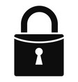 padlock icon simple style vector image vector image