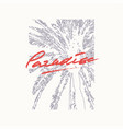 paradise graphic t-shirt design poster vector image