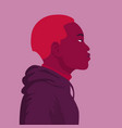 portrait an african in a hoodie vector image vector image