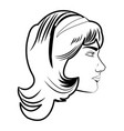 pretty face woman hairstyle comic vector image vector image