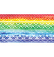 rainbow background with a pattern vector image vector image