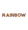 rainbow lettering multicolored letters on white vector image vector image