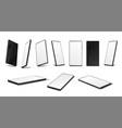 realistic smartphone mobile phone mockup vector image vector image