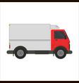 refrigerator truck flat vector image vector image