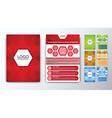 Set of colored polygonal brochures vector image vector image