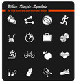 set of icons on fitness vector image vector image
