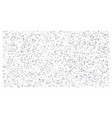 silver polka dot small confetti on white vector image