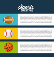 sports infographic presentation vector image vector image