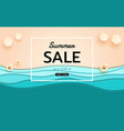 summer banner sale top view blue sea and beach vector image vector image