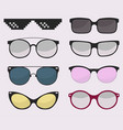 sunglasses set summer eyewear sun protection vector image vector image
