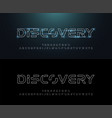 technology abstract neon line stroke font and vector image vector image
