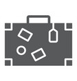travel bag glyph icon travel and tourism vector image vector image