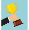 trophy winner cup isolated icon vector image
