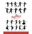 twenty jazz dancers swing broadway rock and lindy vector image vector image