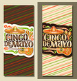 vertical banners for cinco de mayo vector image vector image