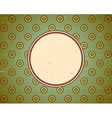 Vintage frame with circles vector image vector image