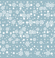 white snowflakes on blue for christmas gift box vector image vector image