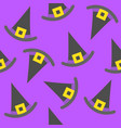 witch hat halloween seamless pattern flat design vector image
