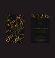 black gold luxury invitation for vip event vector image