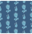 Flower paisley pattern vector image