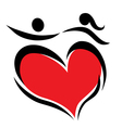 symbol of couple in love vector image