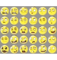 Cool yellow smilies emotions Set vector image