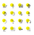16 microphone icons vector image vector image