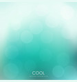 abstract green bokeh background spring wallpaper vector image