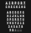 analog airport board font template vector image vector image