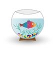 aquarium with fish isolated vector image