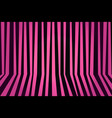 background striped room in pink and black vector image vector image