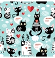 Beautiful cat lover pattern vector image