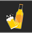 beer bottle and mug vector image vector image